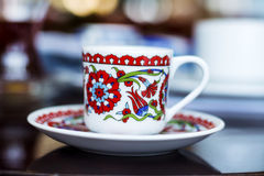 Beautiful porcelain cup of coffee Stock Photos