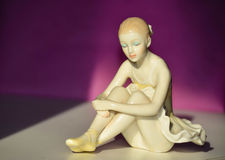 Beautiful Porcelain Figure of a Pretty Young Lady Ballet Dancer. Stock Photography
