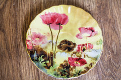 Beautiful porcelain plate Royalty Free Stock Image