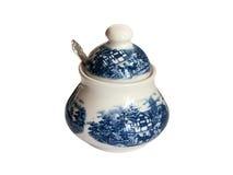 Beautiful porcelain Sugar Tray Royalty Free Stock Photos