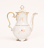 Beautiful porcelain teapot. For tea Royalty Free Stock Photo