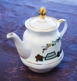 Beautiful porcelain teapot Royalty Free Stock Image