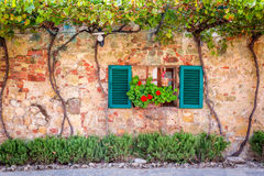 Beautiful porch decorated with flowers stock image