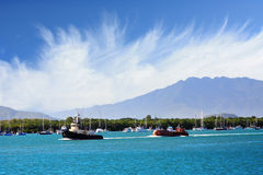 Beautiful port of Cairns. North Queensland Australia royalty free stock photo
