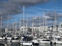 Port in lagos- portugal stock photography