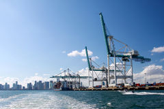 Beautiful Port of Miami Royalty Free Stock Images
