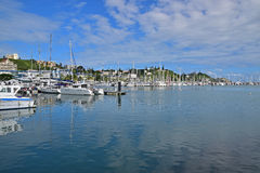 Beautiful Port Moselle, Noumea, capital city of New Caledonia Stock Photo