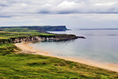 Beautiful Portbraddan between the cliffs of Whitepark Bay, Antrim Coast Royalty Free Stock Image