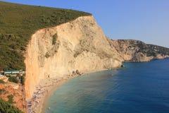 Beautiful Porto Katsiki beach Ionian sea royalty free stock photography