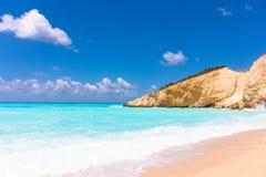 Porto Katsiki beach in Lefkada, Greece stock photography