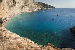 Beautiful Porto Katsiki beach panorama, one of the most famous b Stock Images