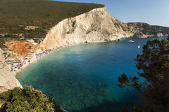 Beautiful Porto Katsiki beach panorama, one of the most famous b Royalty Free Stock Photos