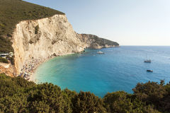 Beautiful Porto Katsiki beach panorama Stock Photo