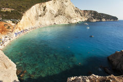 Beautiful Porto Katsiki beach panorama Royalty Free Stock Photo