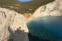 Beautiful Porto Katsiki beach panorama Royalty Free Stock Photos