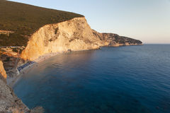 Beautiful Porto Katsiki beach on sunset Stock Images