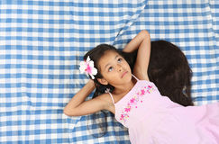 Beautiful portrait of Asian little girl Royalty Free Stock Images
