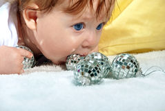 Beautiful portrait baby Stock Images