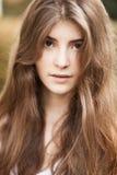 Beautiful portrait of brunette girl Stock Photos