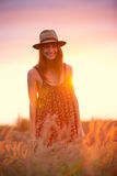 Beautiful portrait of a carefree happy girl Royalty Free Stock Photography