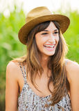 Beautiful portrait of a carefree happy girl Stock Image