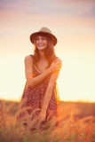 Beautiful portrait of a carefree happy girl Royalty Free Stock Photos