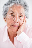 Beautiful portrait of an elder woman Royalty Free Stock Image