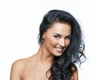 Beautiful portrait of european young woman Stock Images