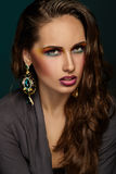 Beautiful portrait of a girl. Bright makeup. Royalty Free Stock Photo