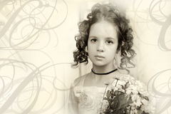 Beautiful portrait of a girl in Victorian era retro style, Stock Photos