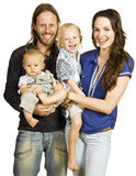 Beautiful portrait of happy beautiful family Royalty Free Stock Image