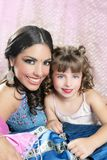 Beautiful portrait of magic queen and princess Royalty Free Stock Photography