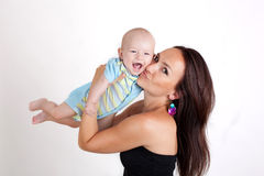 Beautiful portrait of a mother and her baby Stock Photography
