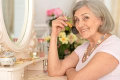 Beautiful portrait of an older woman. Making up Stock Image