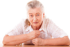 Beautiful portrait of an older woman Royalty Free Stock Photo