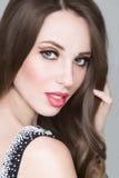 Beautiful portrait of sensual european young woman Stock Image