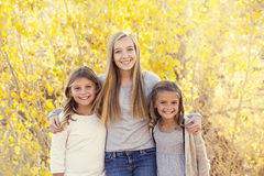 Beautiful Portrait of smiling happy kids outdoors Royalty Free Stock Photography