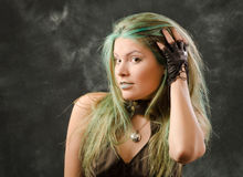 Beautiful portrait of the steampunk girl Royalty Free Stock Image