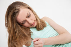 beautiful portrait studio woman young στοκ εικόνα με δικαίωμα ελεύθερης χρήσης