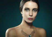 beautiful portrait studio woman young Στοκ Εικόνες