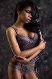 Beautiful portrait of woman in beautiful lingerie Stock Photo