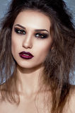 Beautiful portrait of a woman with fashion makeup Royalty Free Stock Photos