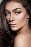 Beautiful portrait of a woman with fashion makeup Stock Image