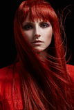 Beautiful portrait of woman with red hair Royalty Free Stock Photos