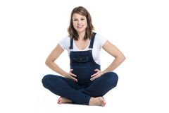 Beautiful Portrait of young pregnant woman Royalty Free Stock Images