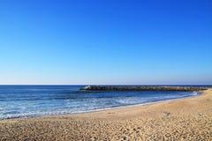 Beautiful Portuguese Beach. Near Oporto royalty free stock images