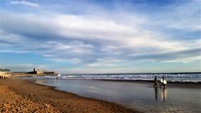 A beautiful golden beach. A beautiful Portuguese golden beach royalty free stock image