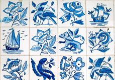 Beautiful portuguese tiles Stock Photography