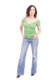 beautiful posing woman стоковое фото
