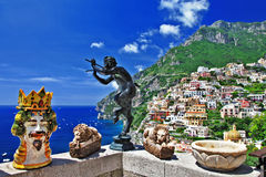 Beautiful Positano Stock Photography